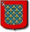 Sarthe : d'azur semé de fleurs de lys d'or à la bordure cousue de gueules chargée au canton dextre d'un lion d'argent